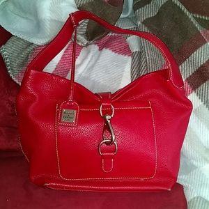 Red leather Dooney&Bourke